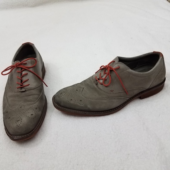 fc93c93a9abe8 Ecco Shoes | Oxford Mens 43 9 95 Gray Wing Tip Extr | Poshmark
